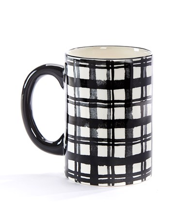 BlackWhitePlaidMug