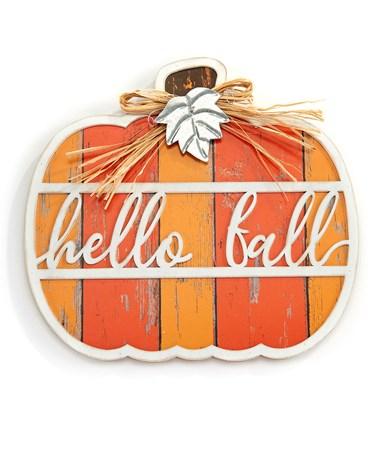 HelloFallPumpkinWallDeacutecor