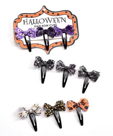 HalloweenHairClips3Asst