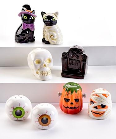 HalloweenSaltPepperShakers4Asst