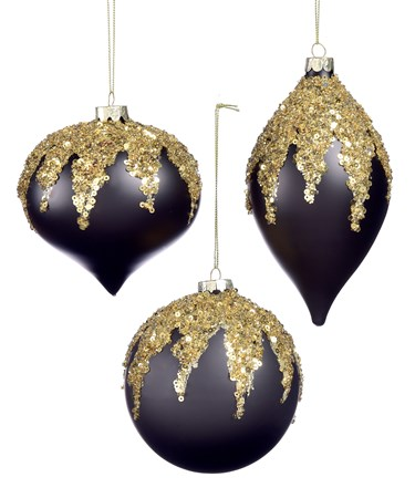 BlackGoldTreeOrnament3Asst