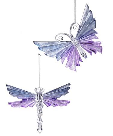 GlitterButterflyDragonflyOrnament2Asst