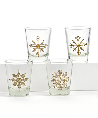 SnowflakeShotGlass4Asst