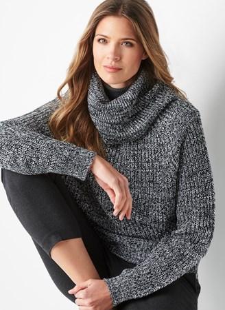 SoftCowlNeckChunkyRaglanSweater