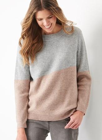 WoolBlendIntarsiaSweater
