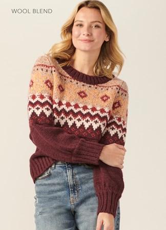 WoolBlendJacquardSweater
