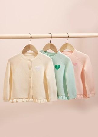 InfantRuffleHemSweater3Asst
