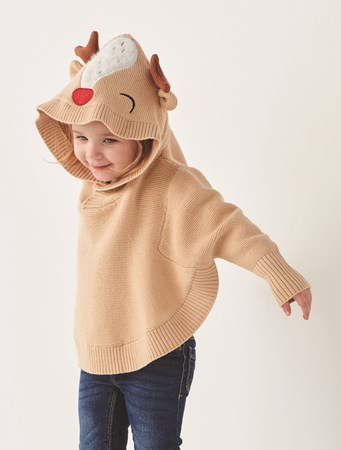 ToddlerSweaterPonchoHoodie