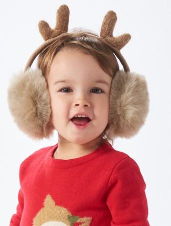 ReindeerFauxFurEarMuffs