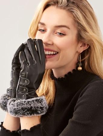 FauxFurCuffGloves