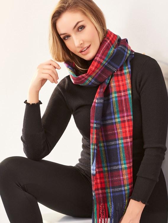 SoftMultiPlaidscarf4Asst