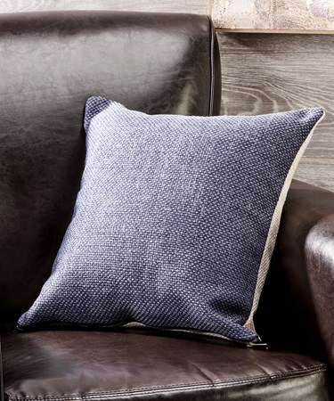 BlueCreamPolyesterCushion