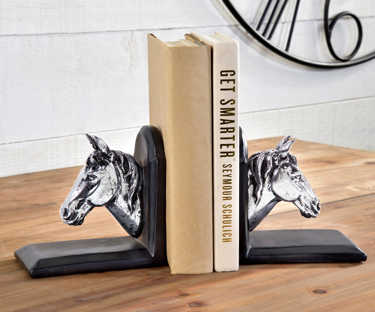 HorseHeadBookendsSetof2