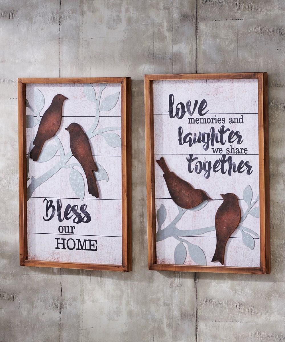 BirdSentimentWallPlaque2Asst