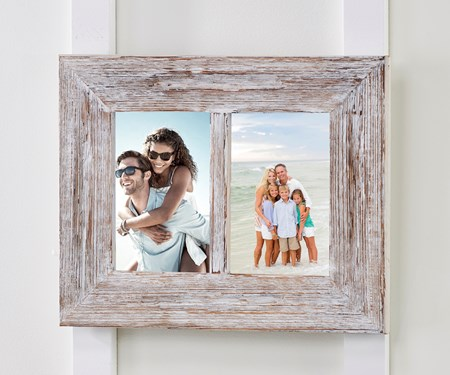 WhiteWashDualPhotoFrame