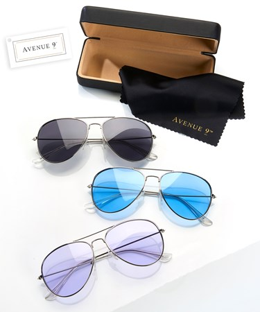 SunglasseswCaseCloth3Asst