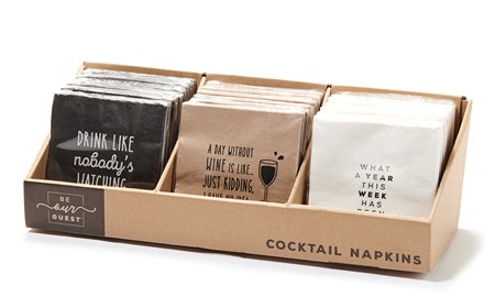 PaperCocktailNapkins3AsstwDisplayer