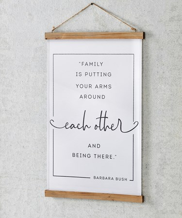 FamilySentimentFabricWallHanging