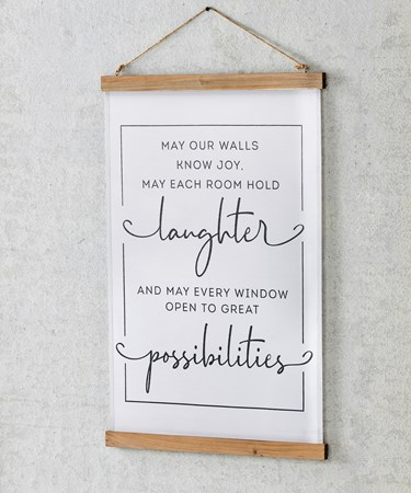 LaughterSentimentFabricWallHanging