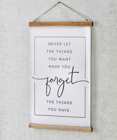 ForgetSentimentFabricWallHanging