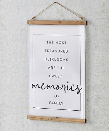 MemoriesSentimentFabricWallHanging