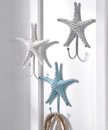 CastIronStarfishSingleHookWallDecor