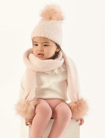 ToddlerLuxuryYarnPomHatandScarf
