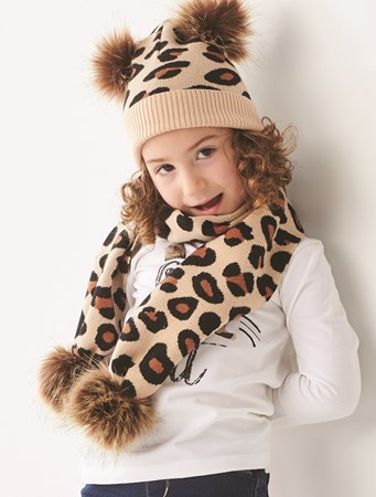 ToddlerLeopardHatandScarf