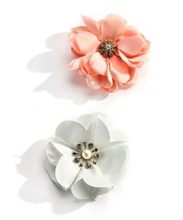 FlowerClipOnBrooch2Asst