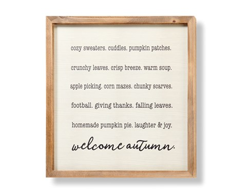 FramedWelcomeAutumnSign