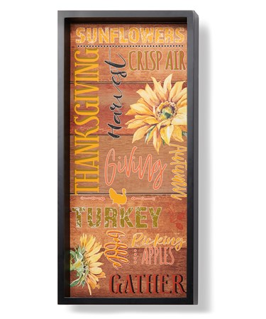 FramedWallSignSunflowers