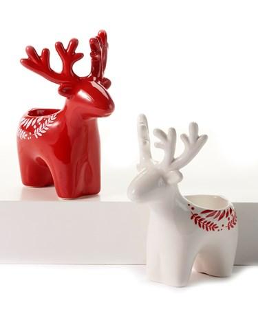 ReindeerTealightHolder2Asst