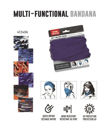 BlueOrangePatternedMultiFunctionalBandana6Asst