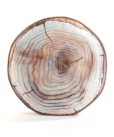WoodDesignRoundPillow