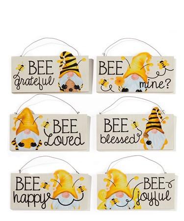 BeeGnomeSentimentSign6Asst