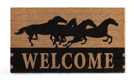 HorseCoirDoorMatWelcome