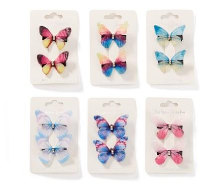 ButterflyHairClipsSetof26Asst