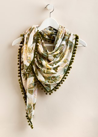 TropicalPalmPrintScarf
