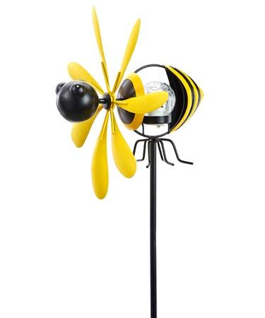BeeSpinningSolarGardenStake