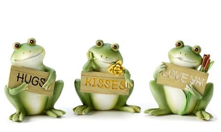 FrogFigurinewSentimentSign3Asst