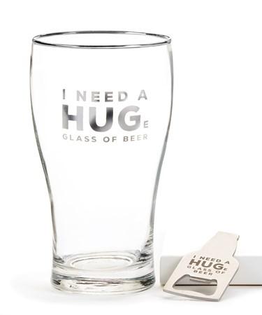 BeerGlassBottleOpenerSet