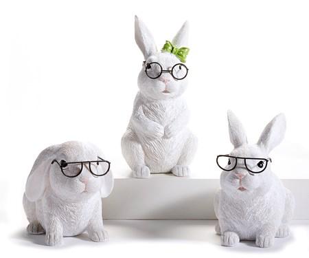 BunnywithGlassesFigurine3Asst