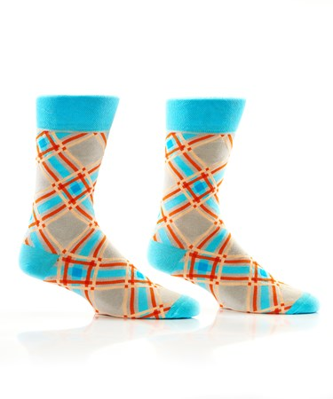 MensCrewSockSpringPlaid