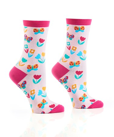 WomensCrewSockBuddingSpringtime