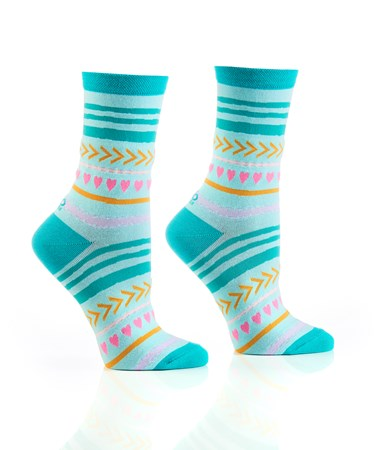 WomensCrewSockFunStripes