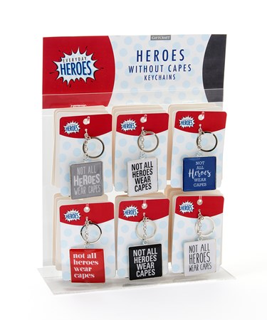 EverydayHerosSentimentKeyChain6AsstwDisplayer