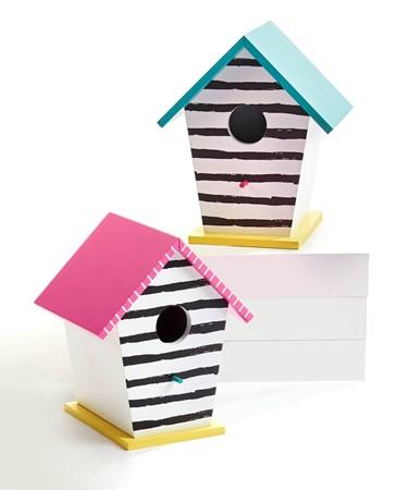 StripedSweetSummerBirdHouse2Asst