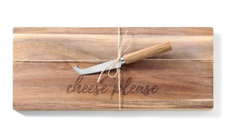 WoodCheeseBoardKnifeSet