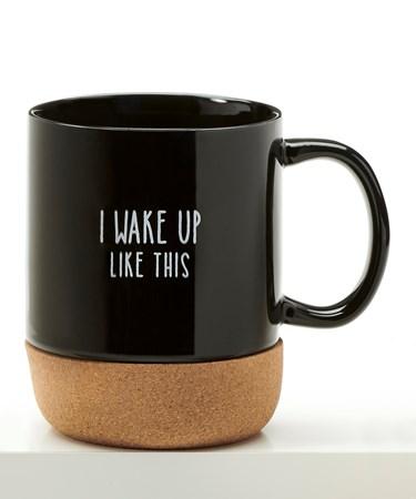 CoffeeMugwCorkCoasterBottomIWakeUpLikeThis