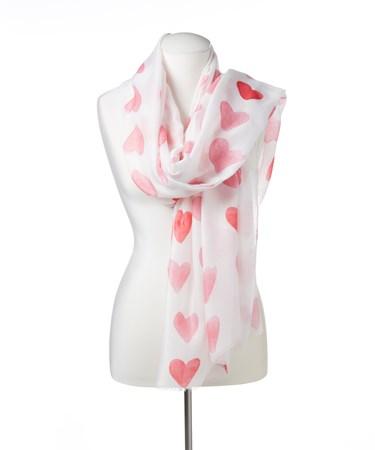 HeartPrintedScarf